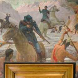 Large avatar bear river massacre mural