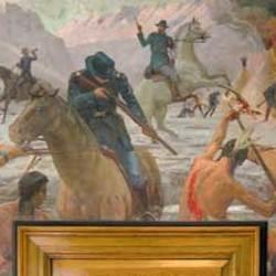 Large avatar bear river massacre mural